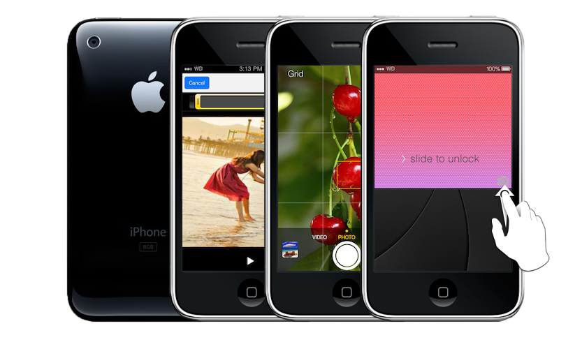 New camera app for iOS7. Record Videos with iPhone 2G and 3G